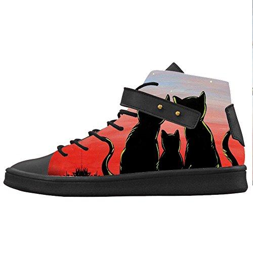 Custom Gatto del fumetto Womens Canvas shoes Le scarpe le scarpe le scarpe.