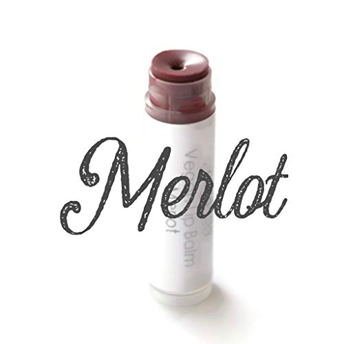 - Merlot - Tinted Vegan Lip Balm| Lipstick | Lip Color | Lipgloss | Plum Wine Lip | Mineral Lip Balm | Pink Lip | Coconut Oil | Moisturize