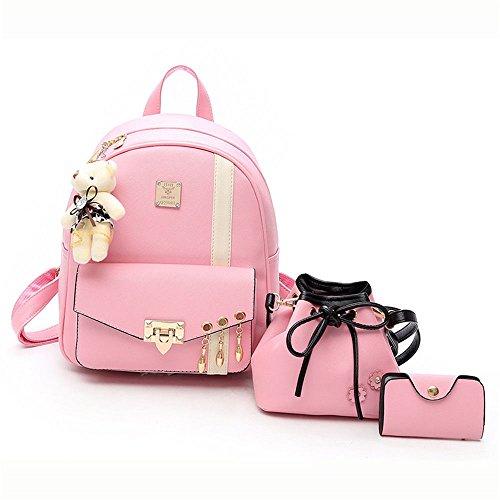 fashionLadies a 25X10X30cm tracolla rosa Borsa Casual New Daily zaino rosa RgCgd
