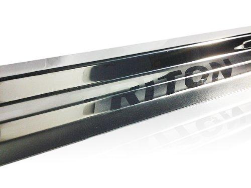 4 Door Sill Stainless Steel Scuff Plate Mitsubishi L200 Triton Mn Ml Ute 05-13