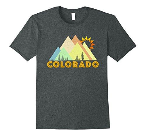 Mens Retro Vintage Colorado T-Shirt-Distressed Shirt XL Dark Heather