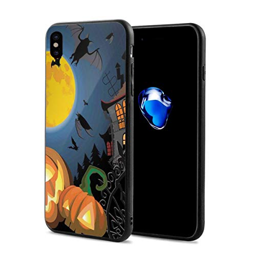 Phone Case Cover Compatible with iPhone X XS,Gothic Halloween Haunted House Party Theme Design Trick Or Treat Motifs Print,Compatible with iPhone X/XS 5.8 -