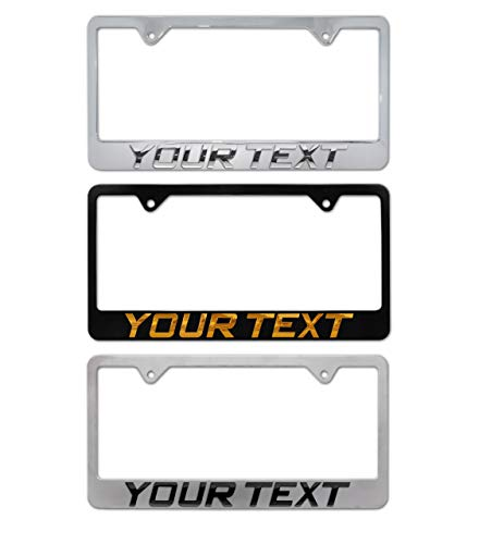 Elektroplate 3D Personalized Metal License Plate Frame - Full Version