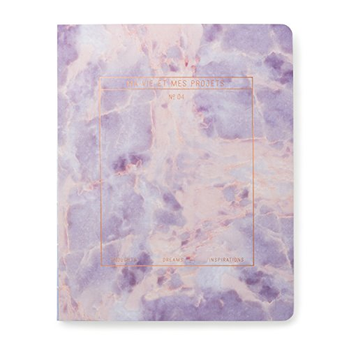 Sewn Stone (Designworks Ink Exposed Spine Perpetual Planner Flex Journal, Stone- Amethyst)