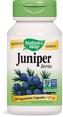 Juniper 100 Capsules Berries - Nature's Way Juniper Berries, 100 Capsules (Pack of 2)