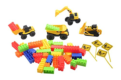 Construction Zone Play Set - Sensory Bin Kit - Sandbox Toys