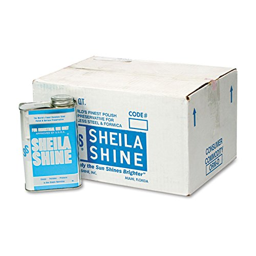 Sheila Shine Stainless Steel Cleaner & Polish, 1 Qt Can (Case of 12)