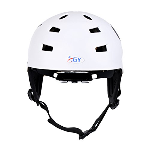 Jili Online White 63-65cm XL Lightweight Adjustable Safety Helmet with Air Vents & Ear Cover for Water Sports Canoeing Kayaking Wakeboarding CE Certification by Jili Online