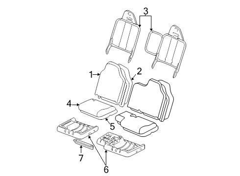Genuine Ford 5L5Z-1062901-AAA Seat Cushion Cover Assembly