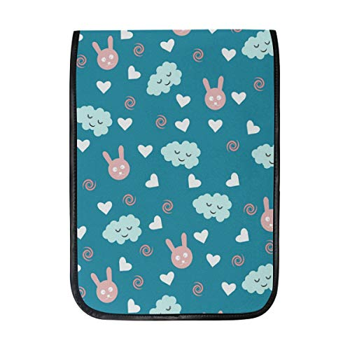 - 12 Inch Ipad IPad Pro Laptop Sleeve Canvas Notebook Tablet Pouch Cover for Homeschool, Travel, Etc Bunny Clouds Wall Decal