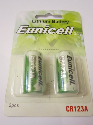 2 x Eunicell CR123A 3V Lithium Batteries Battery - BRAND NEW and Factory Sealed