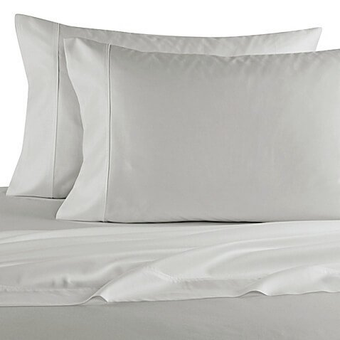 Elizabeth Arden Light-Weight 100% Long-Staple Cotton Percale Set of 2 Pillowcases - Ultra-Fine Natural Pure 300 Thread Count – Crisp & Cool - Standard/Queen Pillowcase Set of 2 - Grey by Elizabeth Arden THE SPA COLLECTION (Image #2)