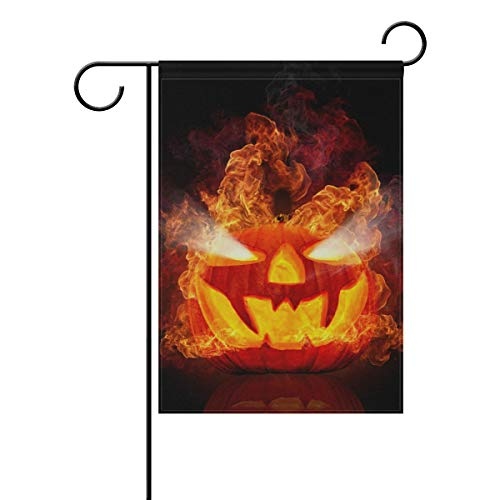 Garden Flag Rustic Quote House Yard Flag Decoration Devil Pumpkin Halloween Double Sided Polyester House Banner for Home Outdoor Decor 28x 40 -