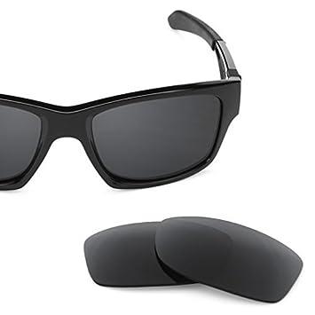 SURE Basic Lentes de Recambio Polarizadas Negro Espejo para Oakley Jupiter Squared