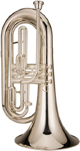 Ravel RMB202S Marching Baritone Horn, Silver-Plated