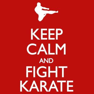 Sudadera con capucha de mujer Keep Calm and Fight Karate by Shirtcity Rojo