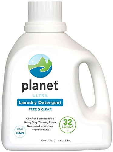 Planet Ultra Liquid Laundry Detergent - 100 oz - Free & Clear - 32 loads