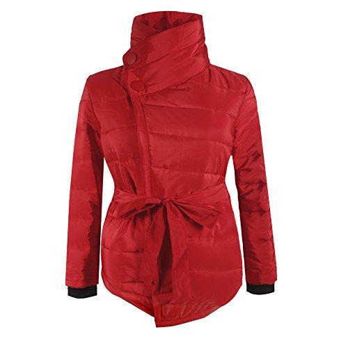 Giacca Giacca Giacca invernali XXL calda donne donne donne Asimmetrico invernale Hibote M esterna Cappotti Giacca Rosso Giacca cappotto XL colori imbottita L S Donna del 4 pHw0zn44