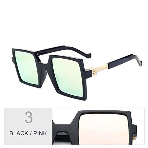Black De Mujeres Azul Telón Pink De Gran Uv400 Anteojos Mujer De Piazza La Sol Negro Fondo Enormes De Unas Gafas TIANLIANG04 F6wqxHv6U