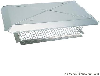17 x 27 x 8 Gelco Multi-Flue 5//8 Mesh Cap with 4 Overhang
