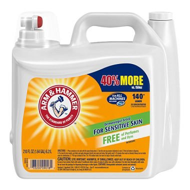 (Arm & Hammer 2X Concentrated Liquid Laundry Detergent for Sensitive Skin (210 oz.))