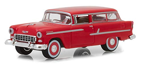 Red Greenlight 1 64 Estate Wagons Series 1-1955 Chevrolet Two-Ten Handyman
