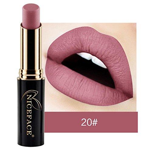NewKelly Lip Lingerie Matte Liquid Lipstick Waterproof Lip Gloss Makeup 12 Shades (H)