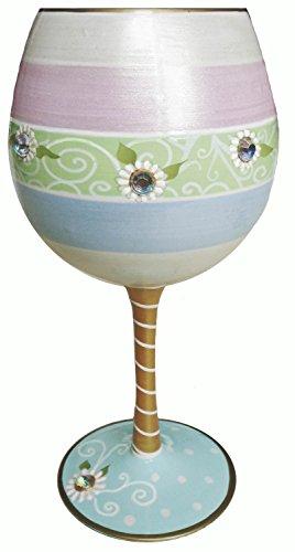 (Inky & Bozko Daisy Lace Wine Glass)
