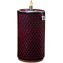 Smart Garden 215088-13RL Apollo Ceramic Garden Torch, 13-Inch Tall, Red Lava, Hand Crafted Fire Pot With Unique Glazed Finish, Includes Stainless Steel Flame Snuffer