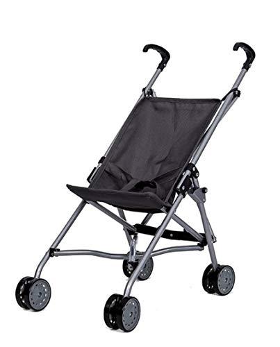 Sillita de Paseo para Munecas - Metal - Plegable - Con cinturon de Seguridad - Altura manillar: 55 cm - Grey