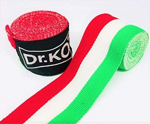 Dr. KO Vendas Boxeo, Kick Boxing, MMA, Muay Thai. Cinta Elástica Mano Muñeca MMA Envolturas Vendaje Bandera Italiana 4,5 Metros: Amazon.es: Deportes y aire libre