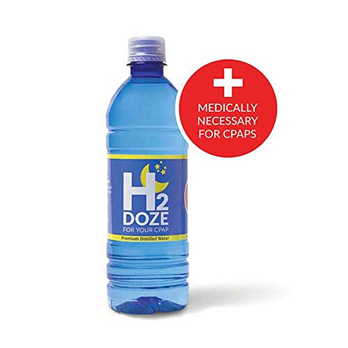 H2Doze Distilled Water for CPAP Humidifiers 16.9 Ounce - 1 Bottle (2 Nights Use Per Bottle)