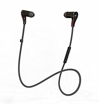 Wireless Bluetooth Headphones - BLUETTEK® Mini Sports Bluetooth V4.0 Voice Control Stereo Jogger Earbuds In-ear Bluetooth V4.0 Headsets Super Bass Handsfree Earphones with Microphone for Running and Gym Exercise (Black)