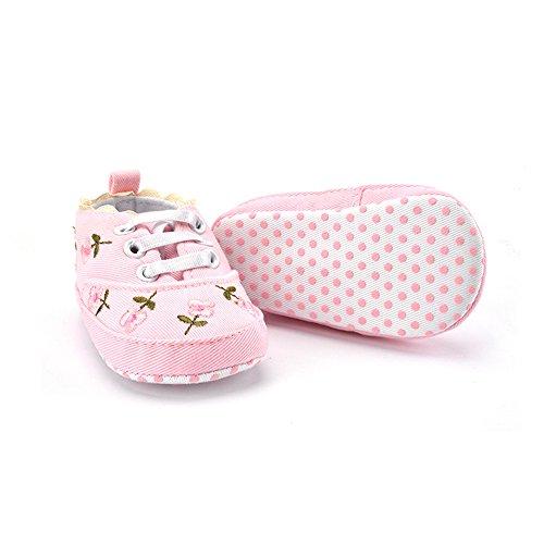 Cute Girl Stickerei Baby Weiß12 s Girl Shoes Farben junlong rutschfest Flower Pretty Baby Design Shoes Zwei f41B8Wnt