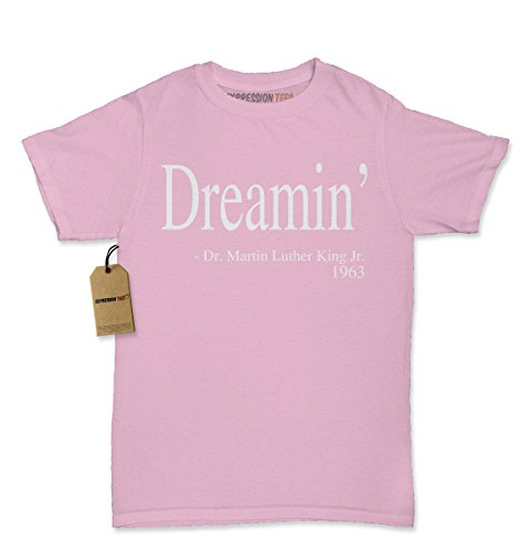 Womens Dreaming MLK Quote T-Shirt X-Large Light Pink (Adult African King Costume)