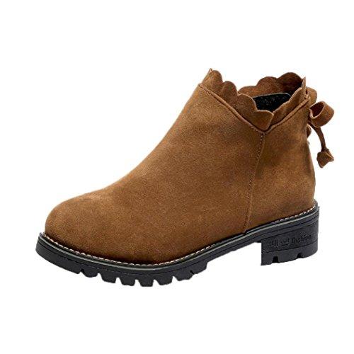 Brown Coda SOMESUN Di Caviglia delle Donne Di Boots delle Boots Stivali di Farfalle Women Shoes Basso Stivali Stivaletti q4TnRwxxZE