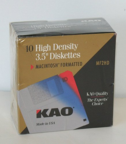 "High Density 3.5"" Diskettes Macintosh Formatted KAO"