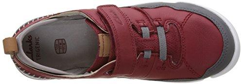Clarks Tri Scotty Jnr, Zapatillas para Niños Rojo (Red Combi)