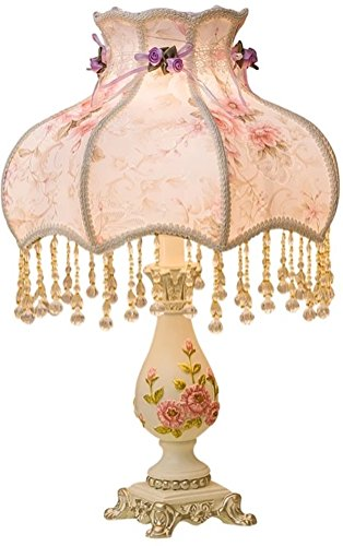 The Large Flower Table Lamp, Height 19Inch, Width 12 Inch, For Girls Lamp Shade. A Pink Floral Bedroom Light (purple flowers) (12 Floral Flower)