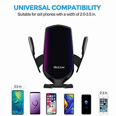 Updated Universal Air Vent Car Cell Phone Holder, Hands-Free One Touch Automatic Clamp Car Phone Mount Cradles for iPhone, Samsung, Google Pixel, Moto, Nokia, and More Smartphone