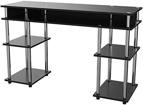 Easy&FunDeals Mesa de escritorio estrecha y larga con 5 estantes ...