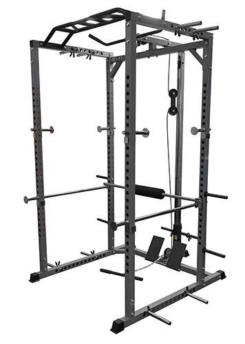Valor Fitness BD-33 Heavy Duty Power Cage with Lat Attachment, Band Pegs and Multi-Grip Chin-Up by Ironcompany.com