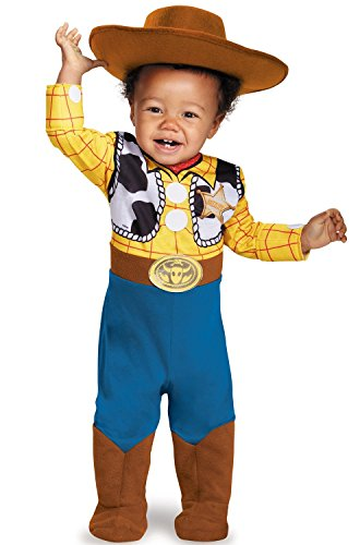Disguise Baby Boys' Woody Deluxe Infant Costume, Multi, 6-12 (Deluxe Woody Cowboy Costumes)
