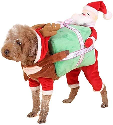 Lumon Mascota Navidad Trajes Perro Traje, Perro Mascota Papá Noel ...