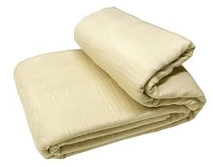 EliteHomeCollection Indian Classic - Cobertor de cama o sofá (150 x 200 cm), color beige