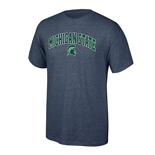 Shop Msu Spartans (Elite Fan Shop NCAA Men's Michigan State Spartans T Shirt Dark Heather Arch Michigan State Spartans Dark Heather)