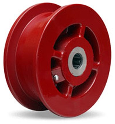 Double Flanged Track Wheel 6'' Diameter x 2-1/8'' Face x 3-1/4'' Hub Length with 1'' Roller Bearing