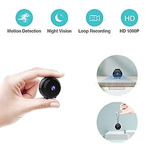 Amazon.com: Puoneto Mini Spy Cámara oculta, Full HD 1080P ...