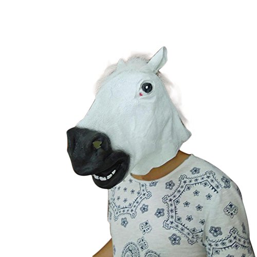 Guo Nuoen Halloween Party Horse Latex Mask Kid Adult Cosplay Monster Costume Full Face Animal Helmet Decoration Props -