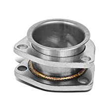 """2.25"""" Inlet/Outlet Stainess Steel Exhaust 3-Bolt Flange Extension Adapter"""